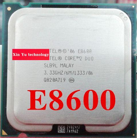 Lifetime warranty Core 2 Duo E8600 3.33GHz 6M 1333 Dual Core desktop processors CPU Socket LGA 775 pin Computer