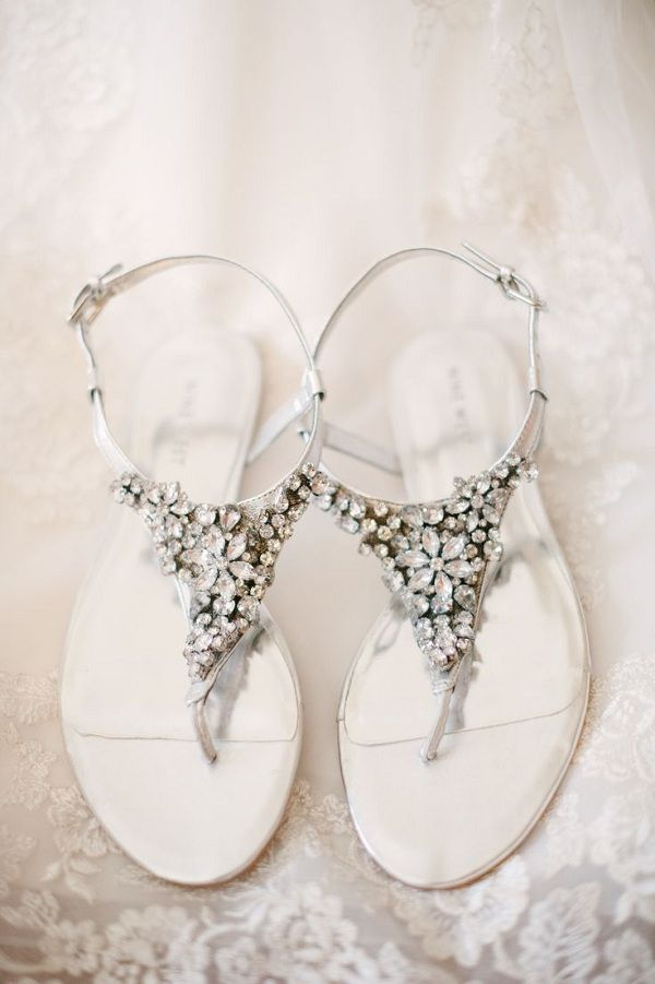 The 25 best bridal sandals ideas on pinterest beach wedding 20 pretty flats for every summer bride bridal sandalssparkly junglespirit Image collections