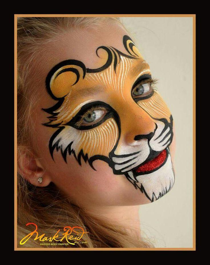 Mark Reid Lion Face Painting Design