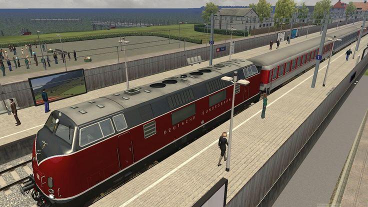 Eine V200 vor einem Sonderzug am Bahnhof Lindau - bereit zur Weiterfahrt nach Lindau Hafen!