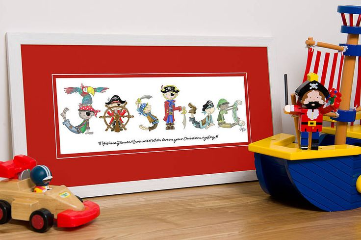 Personalised Pirate Name Print