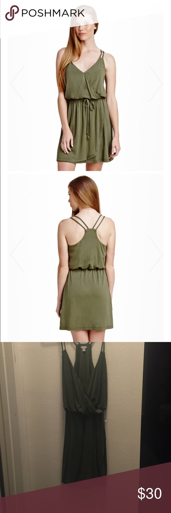 Guess Jana dress Jersey knit dress on olive with small stain on back shoulder. Guess Dresses Mini