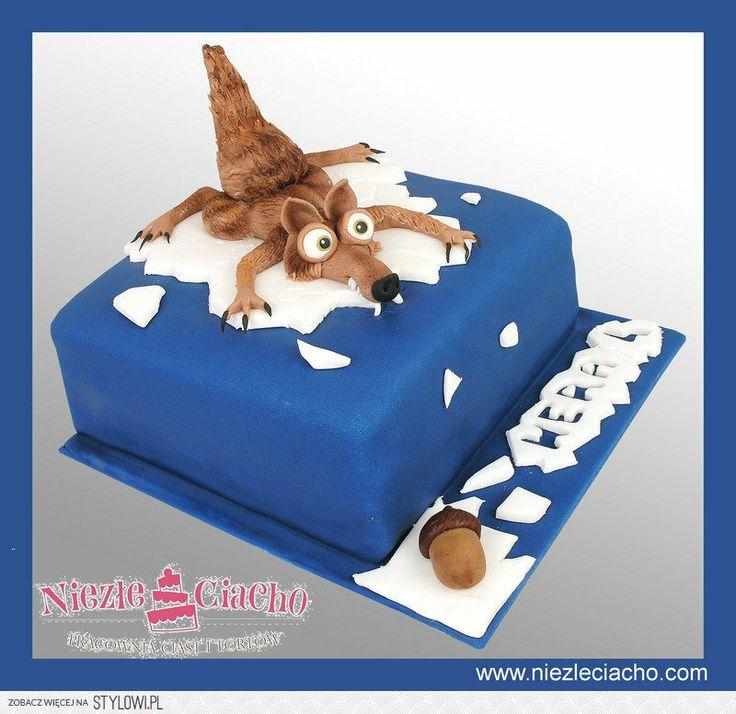 Epoka Lodowcowa, żołędź, torty bajkowe, torty dla dzieci, tort urodzinowy