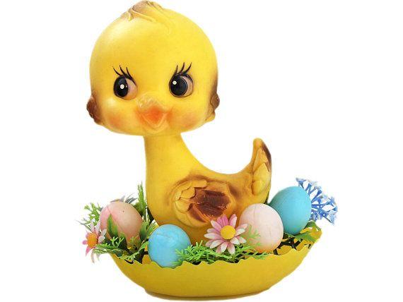 Vintage Blow Mold Easter Decoration Soft Plastic by RevoVintage