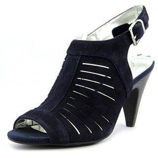 Alfani Primere Women Open-toe Suede Blue Slingback Heel.