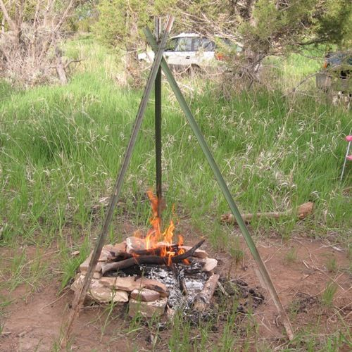 Want a little variety at your next barbecue? Try making and using a German Schwenker, a grill suspended over hot coals from a tripod. Here, we show you how to set up a German barbecue with a western flare. Even out here on the prairie, you can find real German tastes and experiences.