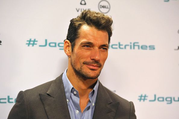 Musician David Gandy attends Jaguar's unveiling event for their next era vehicle at Milk Studios on November 14 2016 in Los Angeles California