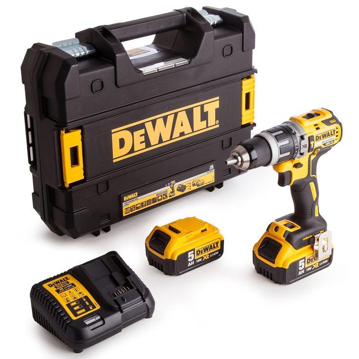 Dewalt DCD796P2 18V 5.0Ah x 2 Cordless XR Brushless Combi Drill /220V Charger #DEWALT #DCD796P2 #18V #5.0Ah #Cordless #XR #Brushless #Combi #Drill #220V