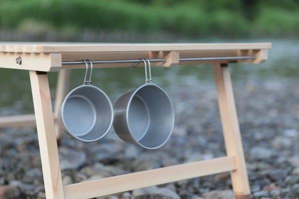 キャンプで使いたいロースタイル用ウッドテーブルが完成!! ウッドテーブル 木製テーブル キャンプ