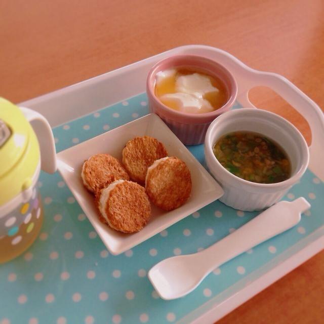 ♢きな粉トースト ♢オクラとコーンの和風スープ ♢甘夏ヨーグルト ♢麦茶 - 7件のもぐもぐ - 離乳食 by kaiton0312