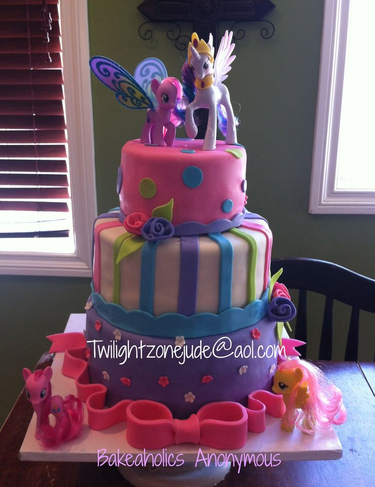 love this My Little Pony Cake - why didn't we have these awesome cakes when I was a kid??