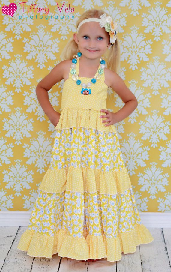 Create Kids Couture - Julia's Twirly Maxi Dress - E-PATTERN-create kids couture, julia's twirly maxi dress, girl, baby, infant, toddler,photo, sewing, summer, spring, fall, special occasion, formal, wedding, party, birthday, twirly, long, elastic, shirring, tiered, tiers, boutique, digital, download, pdf, e-pattern, e-book, tutorial, digipattern