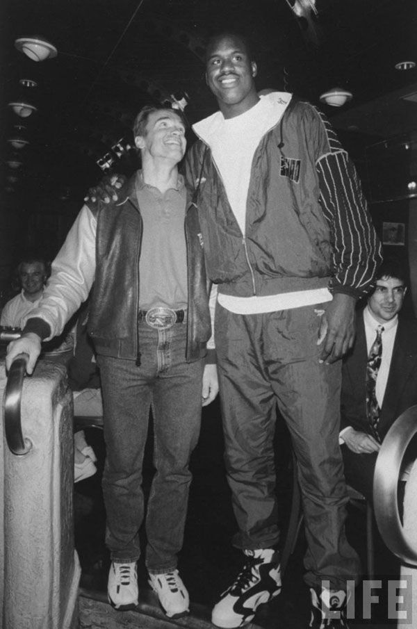 Arnold Schwarzenegger and Shaquille O'neal