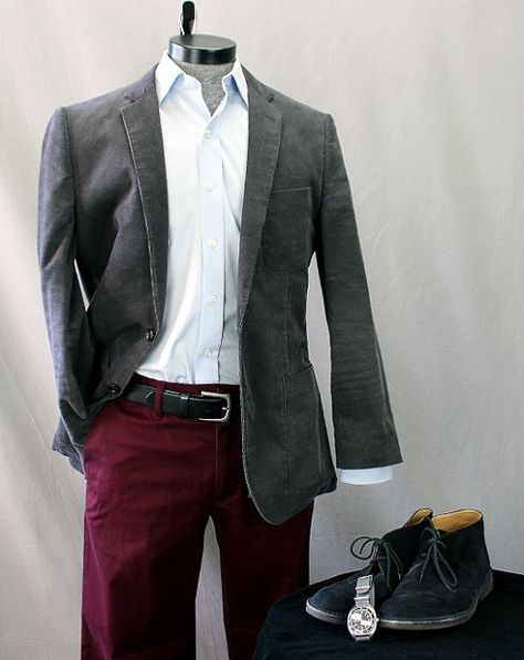 469c9cfd6102 How To Wear It: Burgundy Chinos | Fashion - accessories | Burgundy ...
