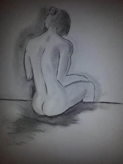 Jesus Galaviz Almanza-Belleza sentada he elegido esta obra porque representa una belleza con cierta desproporción en sus lineas.