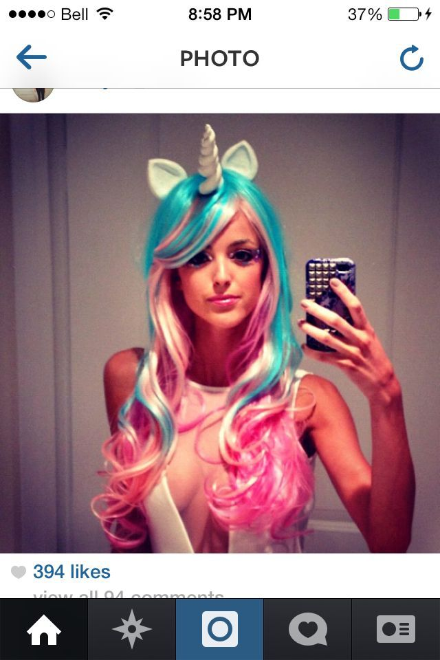 halloween costume pink wig - Google Search