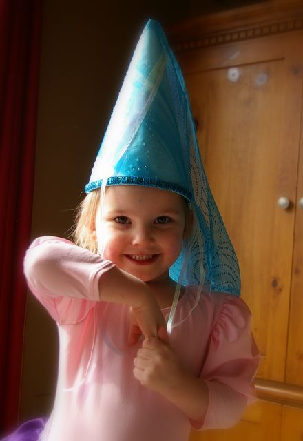Sun Scholars: Princess Hat Tutorial.  I have made this princess hat several times over the years.  It comes together so easily, and doesn't require a lot of skill with a sewing machine.  The girls love it!  Would be the perfect addition to your princess wardrobe!