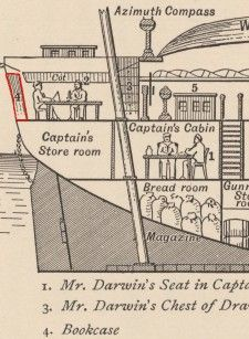 Mr Darwin's Library on the Beagle -- The 400 books that kept him company for 5 years. Not only the catalog, but searchable text! Great fun from Darwin-online.org.uk    User guide to all the other good stuff on the site is at http://darwin-online.org.uk/guide.html