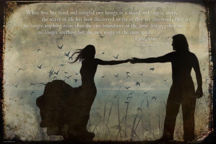 Les Misérables Quotes - When Love has fused...