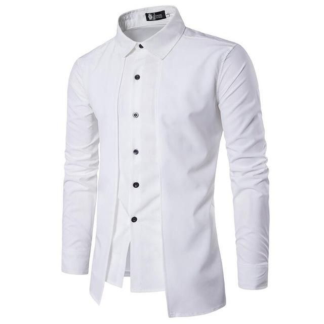 Want' to like a product without buying it, check this one out New Brand  Men Sh... only available on Costbuys http://www.costbuys.com/products/new-brand-men-shirt-fake-two-doors-dress-shirt-long-sleeve-slim-fit-camisa-masculina-casual-male-hawaiian-shirts?utm_campaign=social_autopilot&utm_source=pin&utm_medium=pin