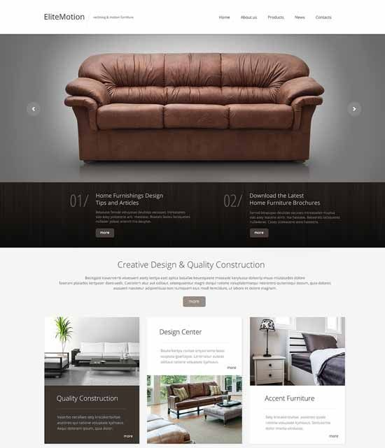 Free Premium Modern Interior Design Furniture Website Templates Was Created Specifically To Fill The Gap In And Decoration Services That