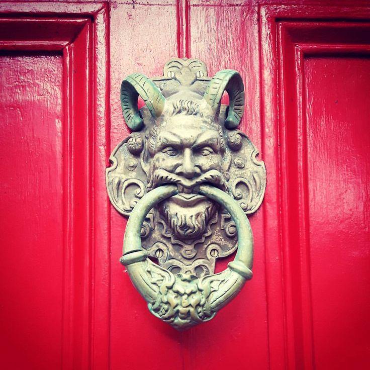 "11 Likes, 1 Comments - Katie Newton (@katiemanx) on Instagram: ""The devil is in the detail. Douglas, Isle of Man. #isleofman #isleofarch #favourite #doorknocker…"""
