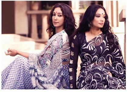 I love pure chiffons over heavy crepes. indian film industry has been a styling ground for decades and I love the 60's structured dresses and 70's printed sarees.