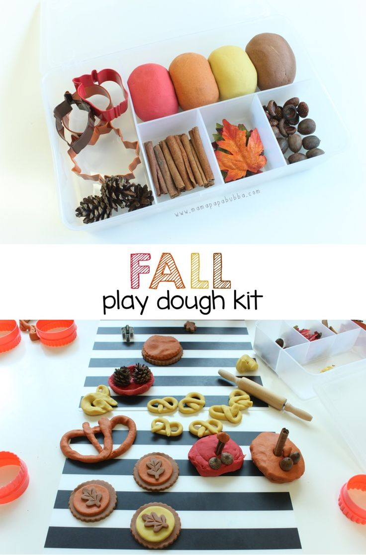 Fall Play Dough Kit - Mama.Papa.Bubba.