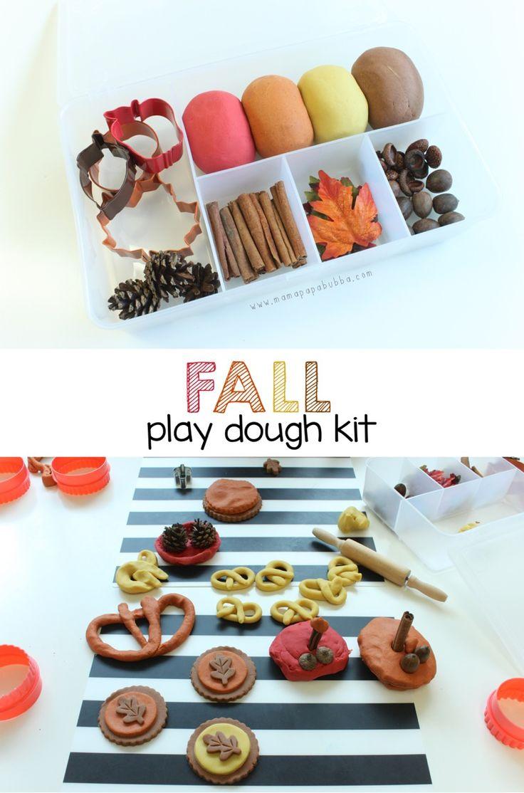 Fall Play Dough Kit   Mama.Papa.Bubba.