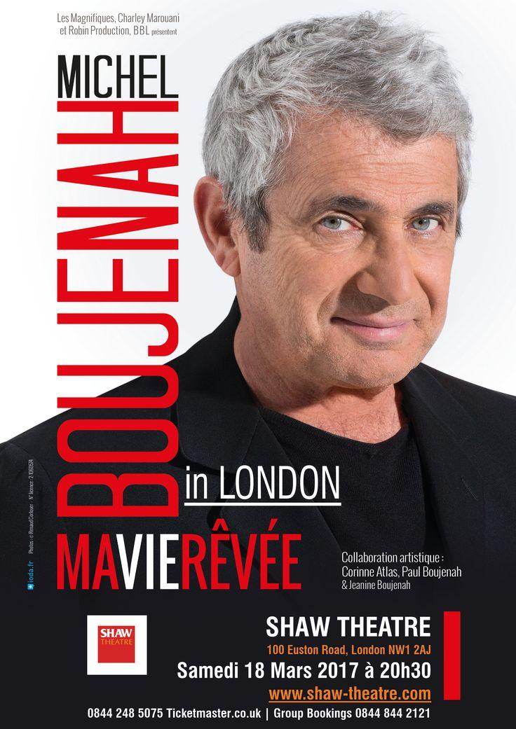 Michel Boujenah est à Londres le samedi 18 mars à 20h30, pour vous présenter son spectacle : « Ma vie rêvée » au Shaw Theatre.