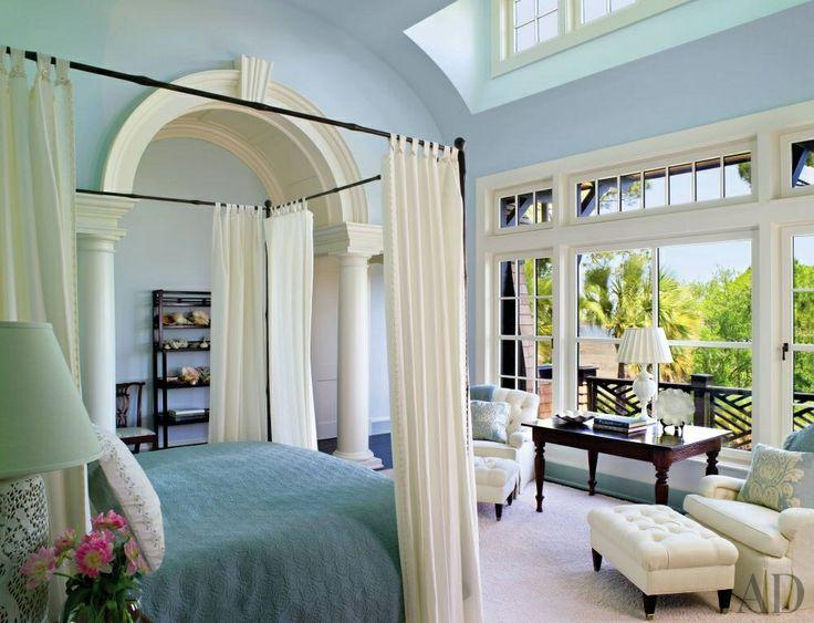 Starting to LOVE this blue  Beach Bedroom by Jacquelynne P. Lanham and Shope Reno Wharton in Kiawah Island, South Carolina