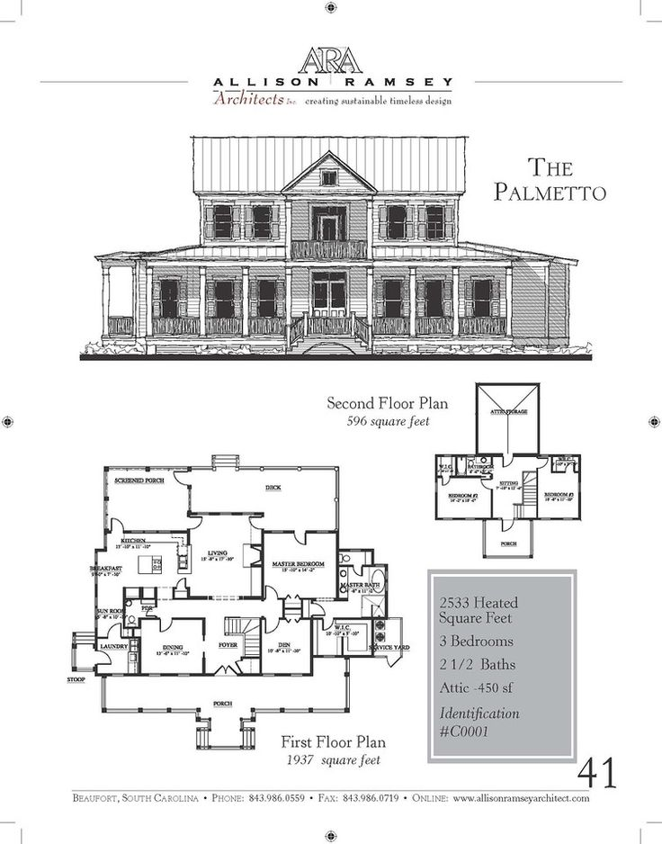The Palmetto Floor plan drawing, Floor plans, New urbanism