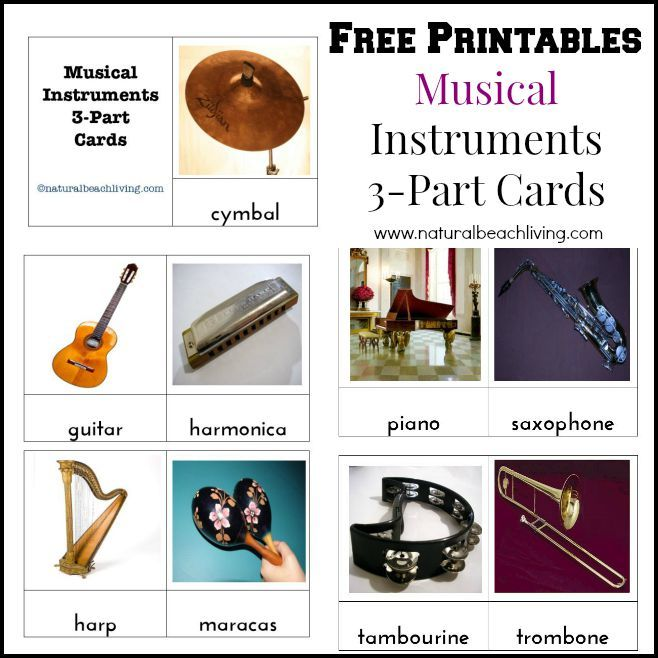 Great ideas for Montessori inspired music for preschoolers. Don't miss the awesome free printables for musical instruments and Montessori Music activities