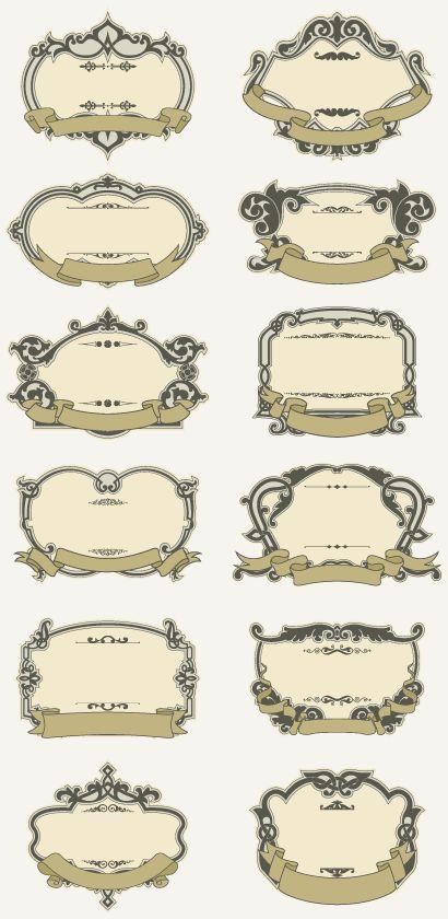 おしゃれなヴィンテージ飾り枠12種類                                                                                                                                                                                 もっと見る