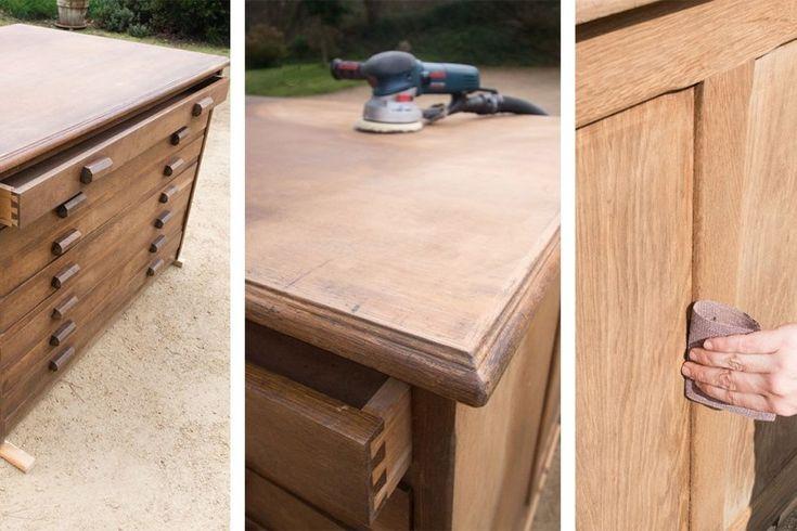 Comment poncer un meuble en bois