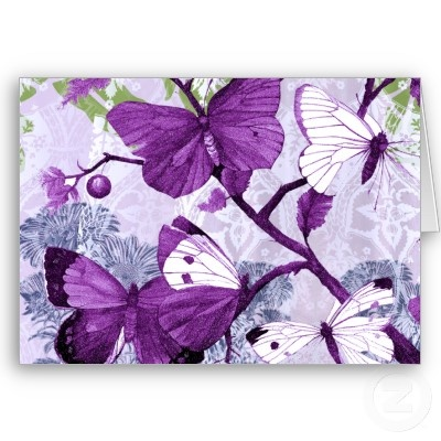 Purple Butterflies Greeting Card | Lupus awareness and ...