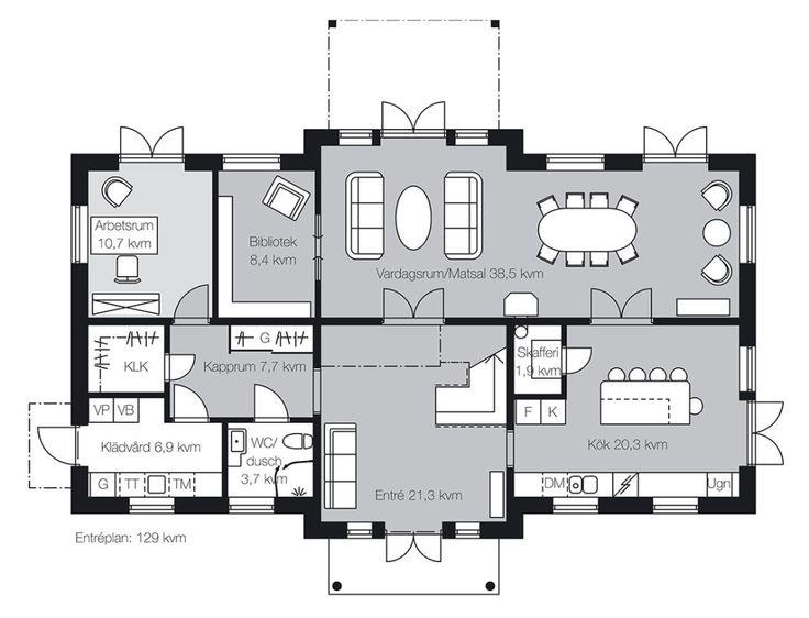 Gillar: Stort kök, stor hall, sällskaputrymmen. Gillar inte: tvättstugan är för liten