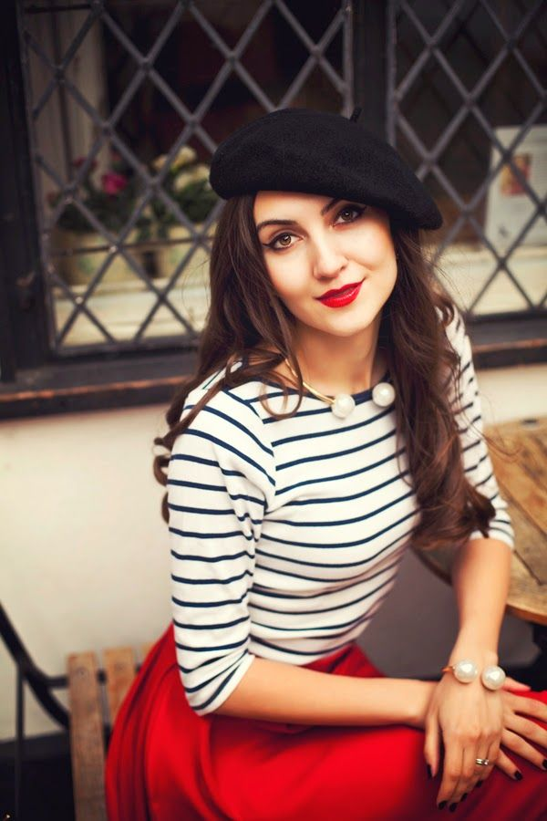 Best 20 french outfit ideas on pinterest for French striped shirt and beret