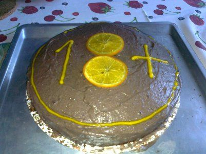 Chocolate orange cake recipe with decoration idea