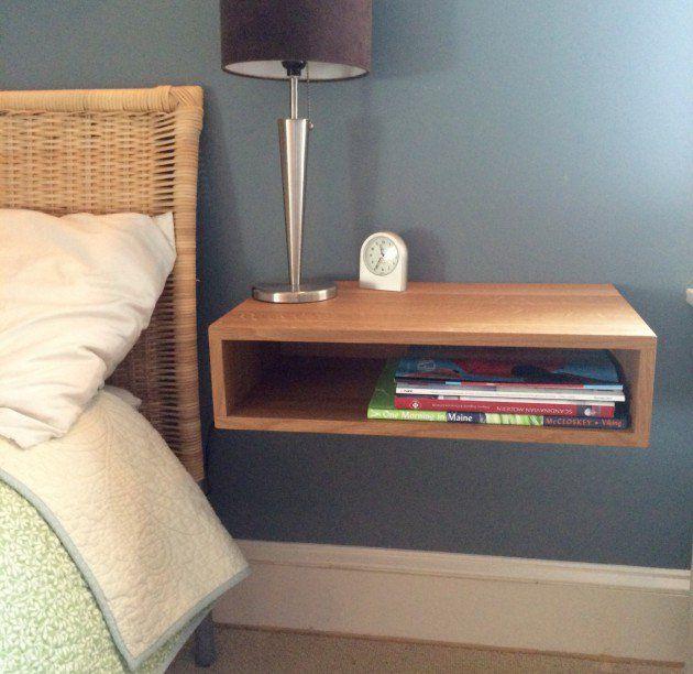 Wall Mounted Nightstand Diy: 13 Best Bedside Shelves Images On Pinterest