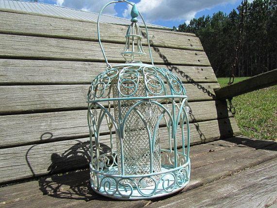 Shabby chic bird feeder,bird feeder,whimsical,outdoor decor,yard art,garden ornament,metal bird feeder ,