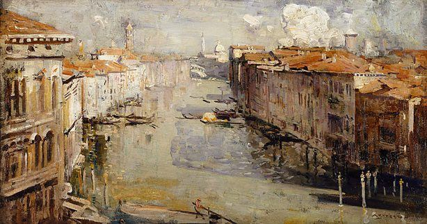 Grand Canal, Venice, (1927) by Arthur Streeton :: The Collection :: Art Gallery NSW