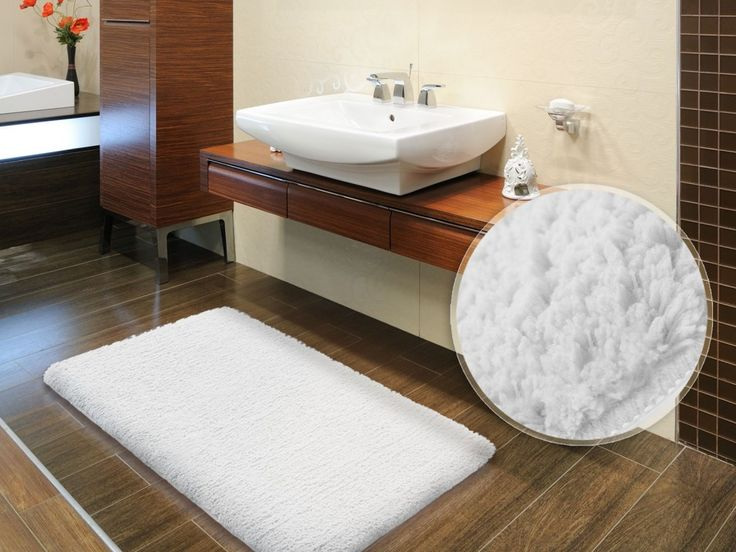 Fascinating Bathroom With Oversized Bath Rugs : Decorations Bathroom Cool  Cotton Snow White Bath Mats With