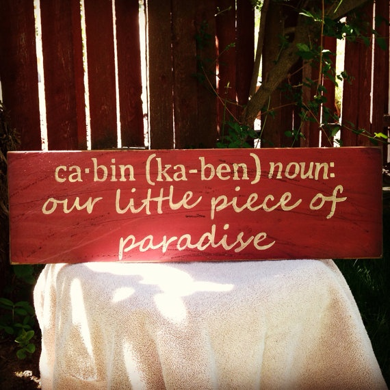 Cabin Sign Dictionary Definition Style. by paintdistresshang, $33.00