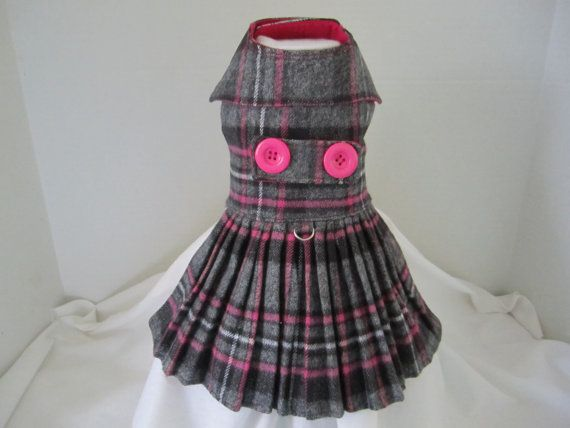 Dog Coat XS Black Gray And Pink By Ninau0027s Couture Closet