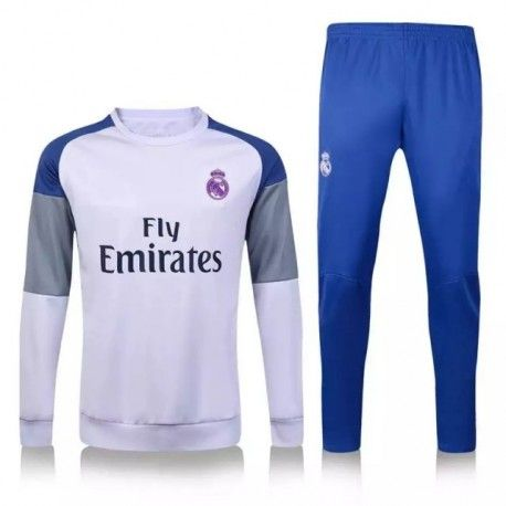 Chándal Real Madrid 2016 2017 Blanco Gris
