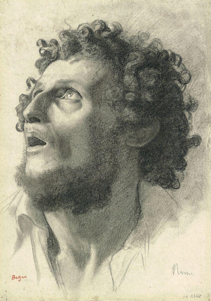 Edgar DEGAS (1834 Paris 1917) Head of a Man, 1856-58 charcoal and graphite