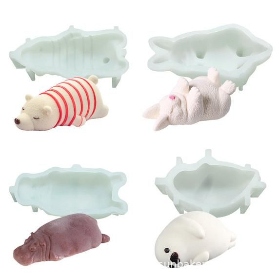 Silicone Mold Rabbit Jelly Cake Decoration Cup DIY Craft Tool Microwave