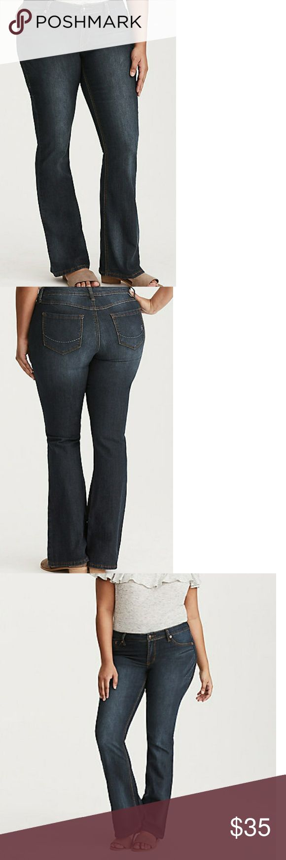 Torrid Slim Boot Jeans - Medium Wash These were bought from Torrid (still for sale online for $44), but the brand of the jeans are Source of Wisdom. Gently used, excellent condition. These are size 14 Extra Tall. See photo for measurements and length. torrid Jeans Boot Cut
