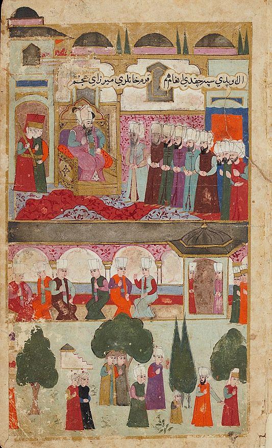 Topkapı Palace-Mehmed III's Coronation in the Topkapi Palace in 1595-Seyyid Lokman